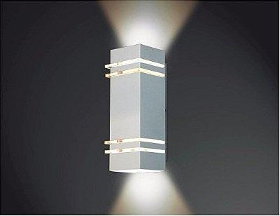 ARANDELA Usina Design QUADRADA AMARILIS Amb. Externo 5236/100 Sala Estar Banheiros Lavabos Quartos 2 G9 105X1000X110