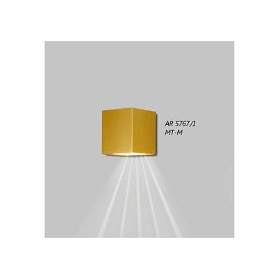 ARANDELA Usina Design QUADRADA FECHADA 1 LENTE FRISADA 5767/1 Sala Estar Banheiros Lavabos Quartos 1xPCI LED 5W 110 220V 90x100x90