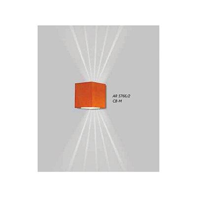 ARANDELA Usina Design QUADRADA LENTE FRISADA 5766/2 Sala Estar Banheiros Lavabos Quartos 2xPCI LED 5W 110 220V 90x100x90