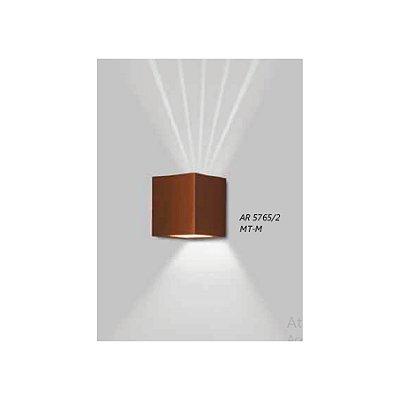 ARANDELA Usina Design QUADRADA VIDRO LENTE FRISADA 5765/2 Sala Estar Banheiros Lavabos Quartos 2xPCI LED 5W 110 220V 90x100x90