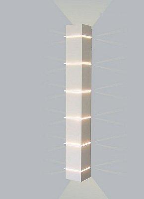 ARANDELA Usina Design Quadrado KIARA Amb. Externo 5225/100 Sala Estar Banheiros Lavabos Quartos 6 G9 105X1000x110