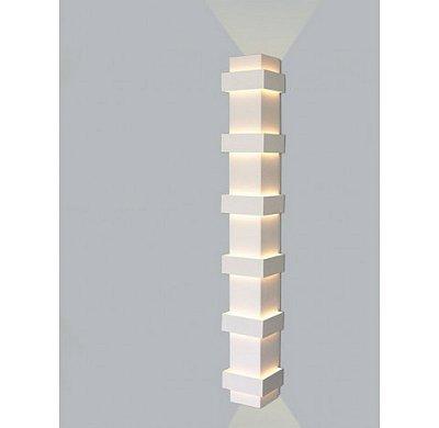 ARANDELA Usina Design Quadrado SMART Amb. Externo 5220/100 Sala Estar Banheiros Lavabos Quartos 6 G9 120X120X1000