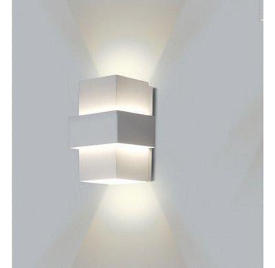ARANDELA Usina Design Quadrado SMART FECHADA 1LADO Amb. Externo 5219/18 Sala Estar Banheiros Lavabos Quartos 1 G9 120X120X180