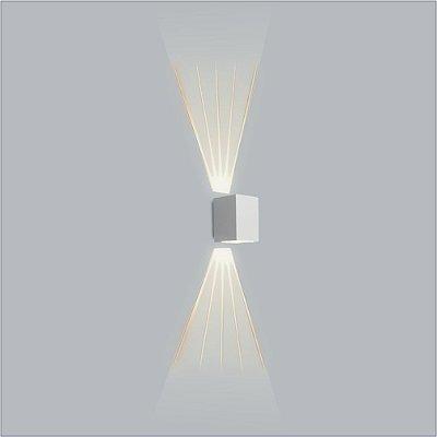 ARANDELA Usina Retangular AVENCA 01 VIDRO E 01 LENTE FRISADA 5118/1  Salas Banheiros Quartos 1 PALITO LED CURTA 150x120x150