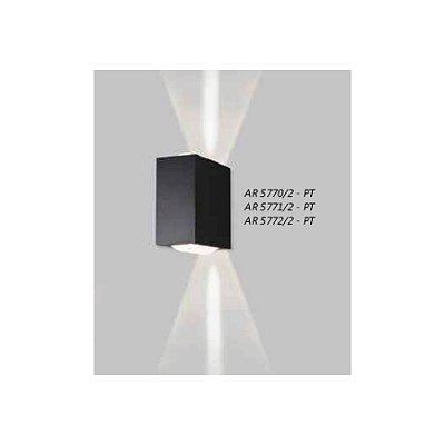 ARANDELA Usina Design Retangular LENTE CÔNCAVA 5771/2 Sala Estar Banheiros Lavabos Quartos 2xPCI LED 5W 110 220V 90X180X180