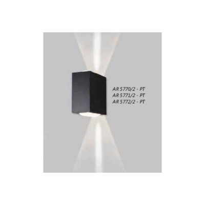 ARANDELA Usina Design Retangular VIDRO VIDRO 5772/2 Sala Estar Banheiros Lavabos Quartos 2xPCI LED 5W 110 220V 90X180X180