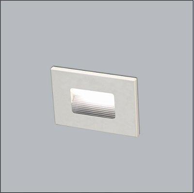 BALIZADOR Usina Design PAREDE DENE 2X4 com  acrílico leitoso 6000/1 Corredores Hall 1xPCI LED 5W 110 220V 115x80x48