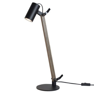 Luminária de Mesa Newline Iluminação Lisse Articulada Metal Madeira 58x36cm 1x GU10/ GZ10 Mini LED 223PT Sala Quarto Casal Mesas
