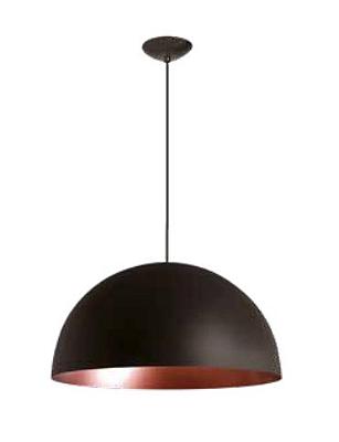 Pendente Newline Iluminação Domus 1/2 Esfera Redondo Metal Preto 20x40cm 1x E27 25W Bivolt 110v 220v SNT330PTCO Sala de Jantar Quarto e Cozinha