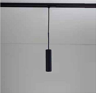 Pendente Newline Iluminação Lisse II Tubo Pendurado Metal Cobre 15x4cm 1x Minidicróica 416APPTPB Sala de Jantar Quarto e Cozinha