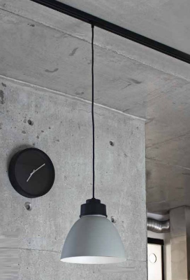 Pendente Newline Iluminação New Industrial Cônico Metal Cinza 21x25cm 1x E27 50W Bivolt 110v 220v SNT367APFFFFPT Sala de Jantar Quarto e Cozinha