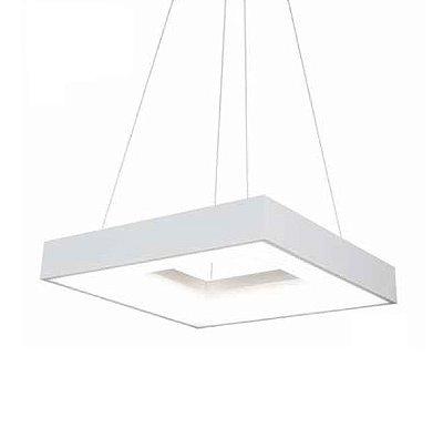 Pendente Newline Iluminação New Massu Aberto Alumínio Acrílico Branco 7x47cm PCI LED 40W Bivolt 110v 220v 486LEDBT Sala de Jantar Quarto e Cozinha