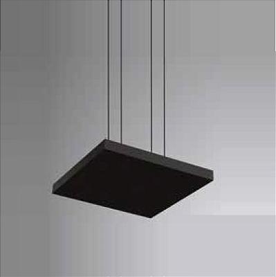Pendente Newline Iluminação Tray LED Horizontal Quadrado Alumínio Preto 3,5x50cm PCI LED 40W Bivolt 110v 220v 536LEDPT Sala de Jantar Quarto e Cozinha