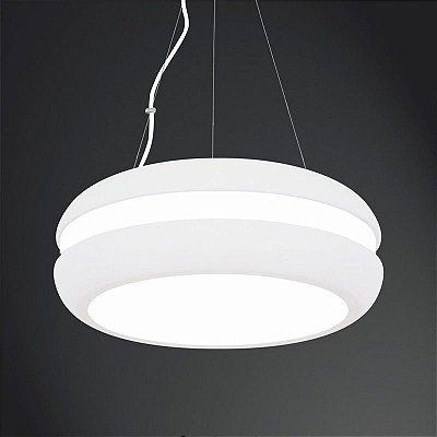 Pendente Usina Design Acrílico Redondo Branco Central Ø60 Big E-27 4131/60 Cozinhas Quartos