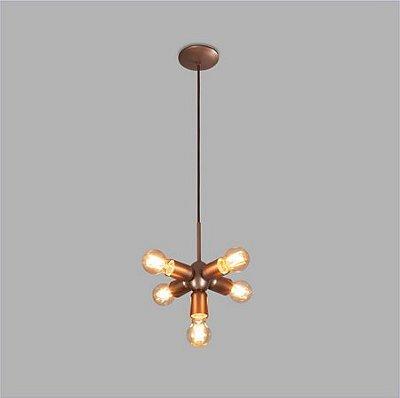 PENDENTE Usina Design AXIS 16305/5 Quartos Sala Estar Cozinhas 5 E27 Ø180x260x1000