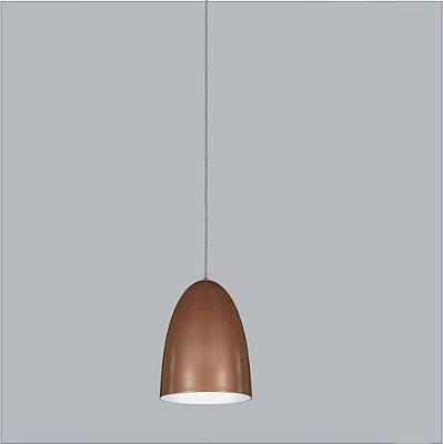 Pendente Usina Design Bullet medio Vertical Conico Metal Bronze 22x20cm 1x E27 Bivolt 110v 220v16005-20 Balcões Mesas