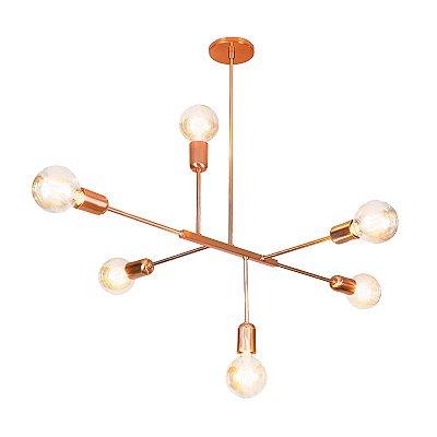 PENDENTE Usina Design DALILA 16280/6 Quartos Sala Estar Cozinhas 6E27 565x850x740