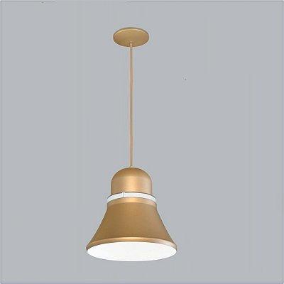 Pendente Usina Design Merengue Grande Conico Metal Dourado 27x27cm 1x E27 Bivolt 110v 220v16030-27 Mesas Balcões