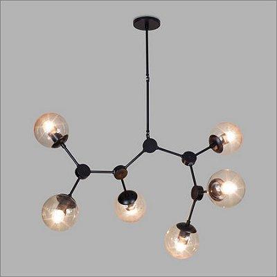 PENDENTE Usina Design NEUTRON 16320/6 Quartos Sala Estar Cozinhas 6E27 G45 1100x1260Alt Total