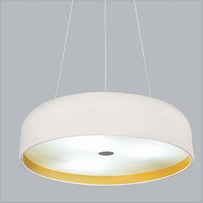 Pendente Usina Design Oberon Vertical Redondo Metal Branco 10x50cm 6x E27 Bivolt 110v 220v16211-50 Sala Estar Entradas