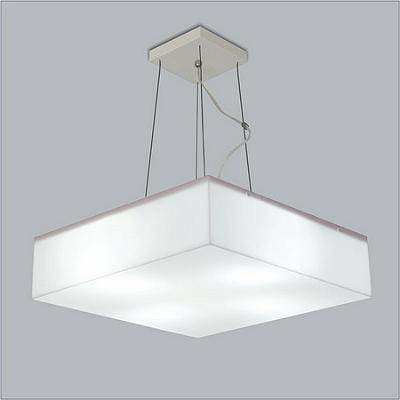 PENDENTE Usina Design QUADRADO ACRÍLICO POLAR 10101/45 Corredores Hall 4 E27 450X450X100