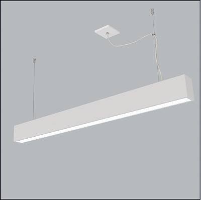 PENDENTE Usina Design Retangular TROPICAL SLIM FIO KEVLAR 4711/130 Sala Estar Cozinhas Quartos FKV 2 T8 LED 120CM 95X1280X85