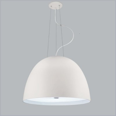 Pendente Usina Design Shimeji Redondo Oval Metal Branco 56x38,5cm 3x Lâmpadas E27 Bivolt 110v 220v16036-60 Sala Estar Mesas