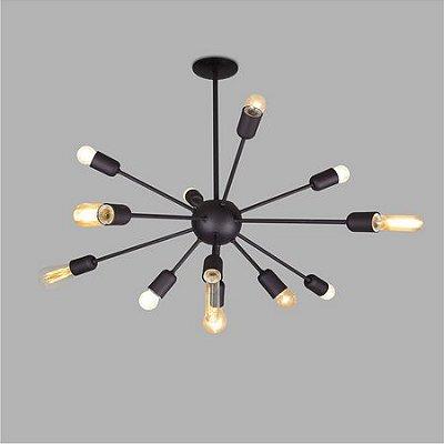 PENDENTE Usina Design SIDERAL 16300/12 Quartos Sala Estar Cozinhas 12 E27 Ø860 x 620Alt