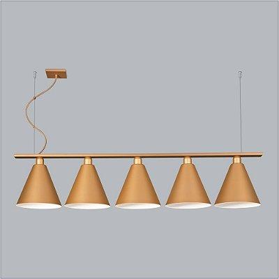 PENDENTE Usina Design VARANDA TRILHO 5 CH 16251/130 Quartos Sala Estar Cozinhas 5 E27 Ø240X1300x260X1000