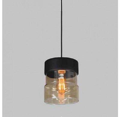 PENDENTE Usina Design VETRO 17001/1 Sala Quarto Cozinha 1 E27 Ø180x220x1000