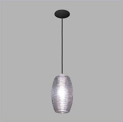 PENDENTE Usina Design VETRO 17003/1 Sala Quarto Cozinha 1 E27 Ø140x250x1000