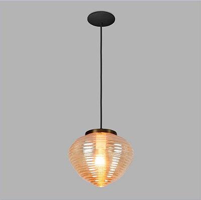 PENDENTE Usina Design VETRO 17005/1 Sala Quarto Cozinha 1 E27 Ø260x200x1000