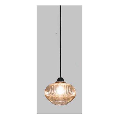 PENDENTE Usina Design VETRO 17010/1 Sala Quarto Cozinha 1 E27 Ø230x215x1000