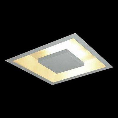 Plafon EMBUTIDO Usina Design QUADRADO HOME 614 x 614 x 80 250/6 Sala Estar Quartos 6G9 650x650x70