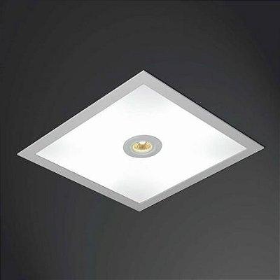 Plafon EMBUTIDO Usina Design QUADRADO RULER 475X475X100 3702/51 Teto Gesso Sancas 4 E27 04 GU10 MR16 500X500X100