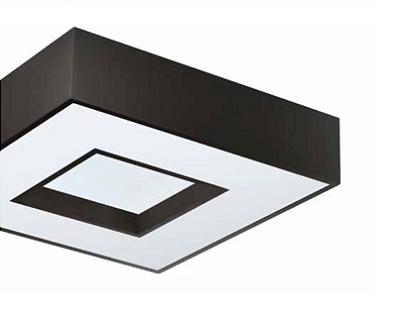 Plafon Newline Iluminação Chess Sobrepor Metal Acrílico Quadrado 12x32,7cm 4x E27 25W Bivolt 110v 220v 170PT Sala Quarto e Cozinha