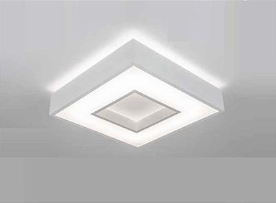 Plafon Newline Iluminação New Chess LED Sobrepor Acrílico Quadrado 8,3x35cm PCI LED 30W Bivolt 110v 220v 511LEDBT Sala Quarto e Cozinha