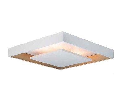 Plafon Newline Iluminação New Picture Sobrepor Metal Quadrado 8,7x35cm PCI LED 10W Bivolt 110v 220v 545LEDBTDO Sala Quarto e Cozinha