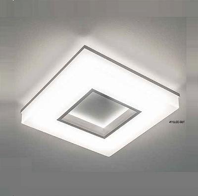 Plafon Newline Iluminação Pixel Quadrado Aberto Metal Acrílico Branco 7x35cm PCI LED 30W 491LEDBT Sala Quarto e Cozinha