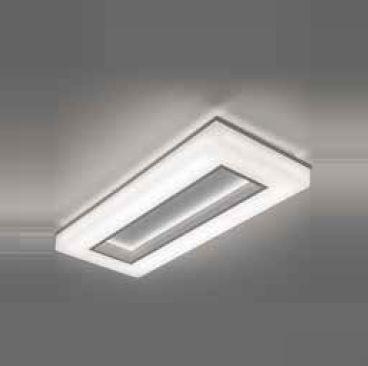 Plafon Newline Iluminação Pixel Retangular Aberto Acrílico Metal 7x64,3cm PCI LED 40W Bivolt 110v 220v 493LEDBT Sala Quarto e Cozinha