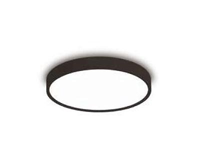 Plafon Newline Iluminação Ring Redondo Sobrepor Metal Preto Acrílico 10,5x27cm 2x E27 25W Bivolt 110v 220v 9045PT Sala Quarto e Cozinha