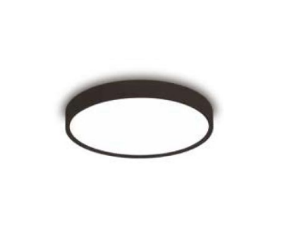 Plafon Newline Iluminação Ring Redondo Sobrepor Metal Preto Acrílico 10,5x40cm 3x E27 25W Bivolt 110v 220v 9046PT Sala Quarto e Cozinha