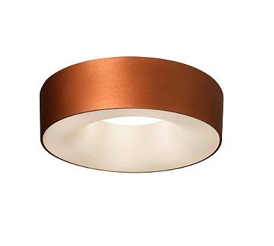 Plafon Newline Iluminação Sushi Redondo Sobrepor Metal Acrílico 16,5x53cm 6x E27 23W Bivolt 110v 220v ST20201CE Sala Quarto e Cozinha