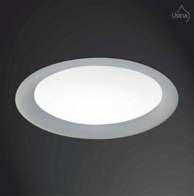 Plafon Usina Design Embutido Redondo  acrílico leitoso Bivolt 110v 220v32x32 Ruler E-27 3700/32 Cozinhas Salas
