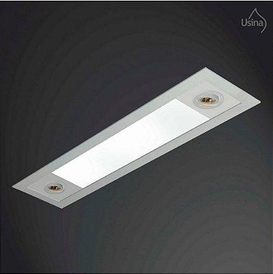 Plafon Usina Design Embutido Retangular Bivolt 110v 220v20x90 Ruler T8 AR 70 3721/90f Cozinhas Quartos