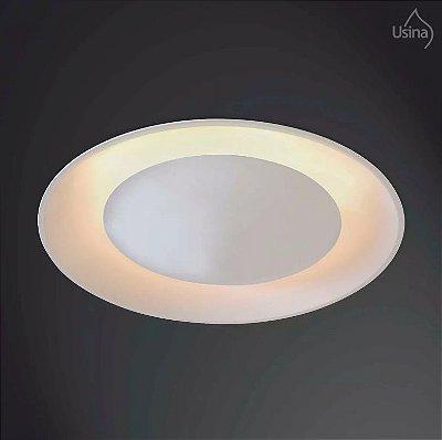 Plafon Usina Design Embutito Recuado  acrílico leitoso Bivolt 110v 220vØ30 Eclipse Redondo Curvo G9 231/3 Cozinhas Salas