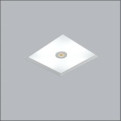 Plafon Usina Design Now Frame Embutido Quadrado  acrílico leitoso 23x23cm 2x E27/ 1 PAR20 Bivolt 110v 220v30081-22 Sala Estar Quartos