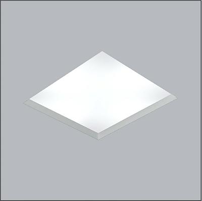 Plafon Usina Design Now Frame Embutido Quadrado  acrílico leitoso Branco 22x22cm 3x E27 Bivolt 110v 220v30100-20 Escadas Quartos