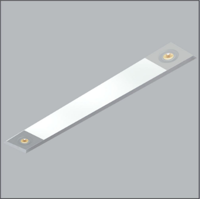 Plafon Usina Design Now Frame Embutido Retangular  acrílico leitoso 12x143cm 2 T8 Tubo/ 2 GU10 30090-139 Sala Estar Entradas