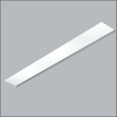 Plafon Usina Now Frame Embutido Retangular Acrílico 12x65cm  2x T8 Tubular Bivolt 30111-62F Salas e Banheiros